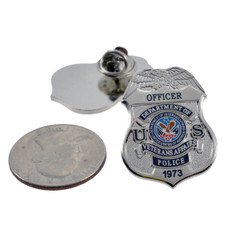 Department of Veterans Affairs Police Mini Badge Lapel Pin