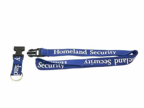 DHS Homeland Security Lanyard Badge Holder Key Ring