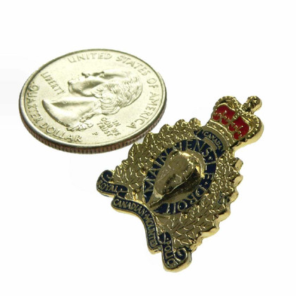 Canada RCMP GRC Police Crest Lapel Pin