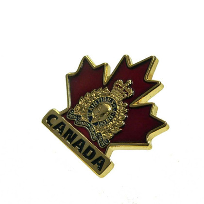 Canada RCMP GRC Crest Maple Leaf Pin Tie Tac