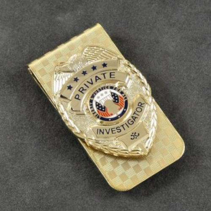Private Investigator Mini Badge Money Clip