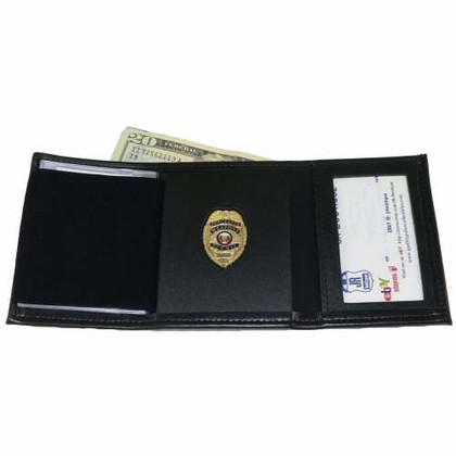 Trifold Wallet w/ Single ID Window Concealed Weapons Permit