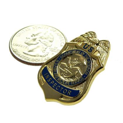 U S Fish and Wildlife Service Inspector Mini Badge Pin