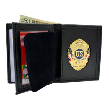 Leosa Concealed Carry Badge Wallet Cwp Wallet Hr218 Wallet