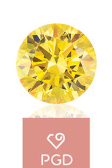 Pure Grown Diamond  .50 Carat VVS2 Fancy Yello
