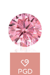 Pure Grown Diamond  .71 Carat VS1 Fancy Light Pink
