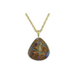 18kty w/ 8.16ct Boulder Opal Pendant
