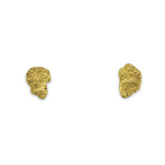 0.8 DWT ALASKA GOLD NUGGET EARRINGS