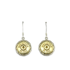925 Silver Rope Braid 45 colt rope earrings with French hooks.