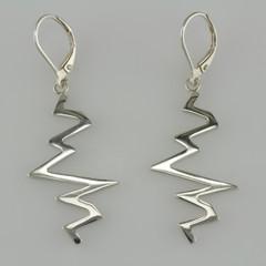 Sterling Silver Echo Earrings