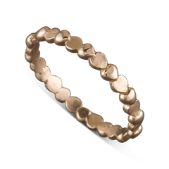 14 Karat Rose Gold Heart Stack-able Ring Size 6.25