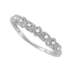 14 Karat White Gold .04 CTW Diamond Ring Size 6.25