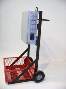 Three Phase 100A 120/208V Distribution Cart 3A10-2B