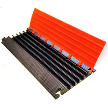 "THE { BANDIT } Elasco Guards 5 Channel 1-3/8"" Heavy Duty Cable Guard, Orange/Black"