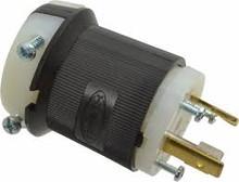 Hubbell HBL2611 30A 125V 2P 3W NEMA L5-30P Locking Plug.