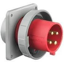 HBL460B7W  60A 480V 3PH 4W Hubbell Male Flanged Inlet