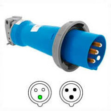 HBL3125P6W 125A 220-240V Hubbell Male Plug
