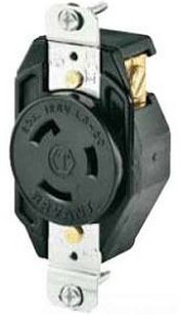 Bryant 70520FR Flush Receptacle 20A 25V 2-Pole 3-Wire