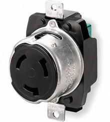 Hubbell HBL3769 50A 250V DC/600V AC, 3-Pole 4-Wire Flush Receptacle