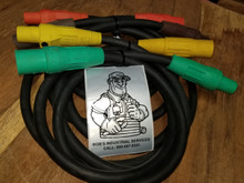 25 FT 2/0 - 200 AMP 600V TYPE SC CAM LOCK CORD SET OF {4}