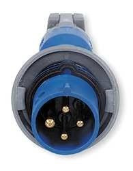 430P9W 30A 250V 3 Phase Hubbell Male Plug, 3 Pole, 4 Wire
