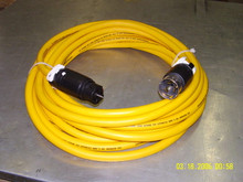 Rob's Industrial 100 FT 50A 480V 3 PHASE YELLOW POWER CORD W/ CS8164 & CS8165 HUBBELL ENDS