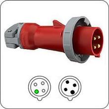 430P7W 30A 480V Hubbell  Plug, 3 Pole, 4 Wire