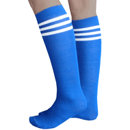 royal blue/white striped tube socks