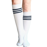 Womens Striped Tube Socks