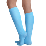 Thin Blue Knee Socks