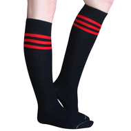 black red tube socks
