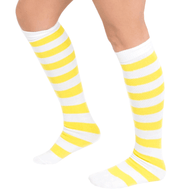 striped white/yellow socks