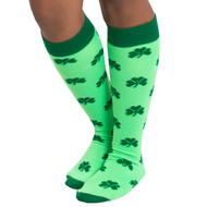 neon green shamrock socks