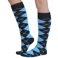 light blue argyle socks