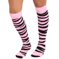 light pink zebra socks