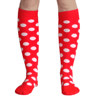 red and white mouse polka dot socks