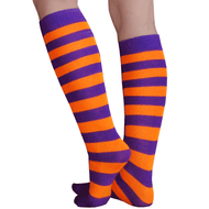 purple and orange socks
