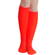 solid red knee highs