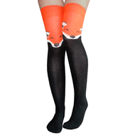 orange foxy thigh highs