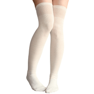 Ivory White Thigh Highs