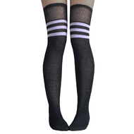 Black & Lilac Thigh Highs