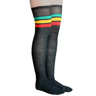 rasta thigh high socks