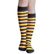 Tangerine Striped Knee Highs