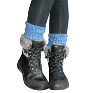 blue slouchy boot socks