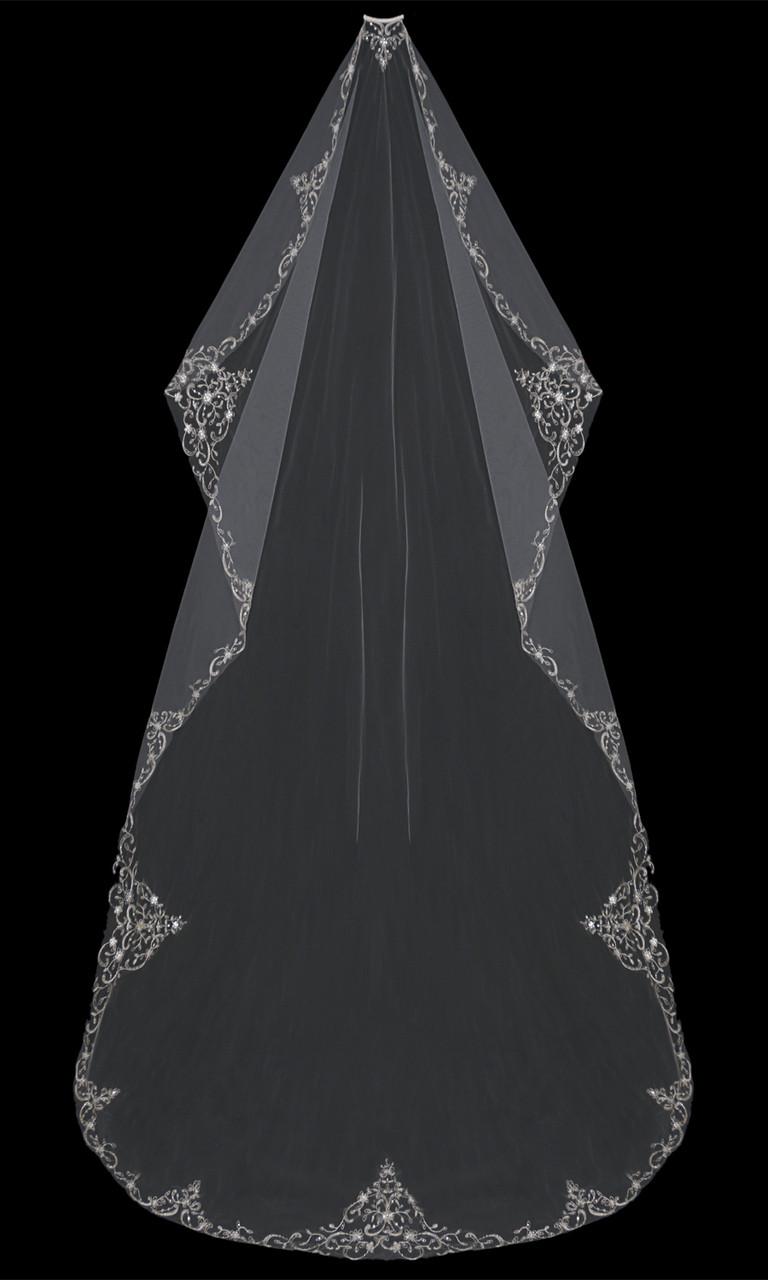 Bridal Mantilla Cut Cathedral Bridal Veil