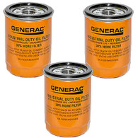 3-pack Generac 070185E 90mm High Capacity Extended Duty Oil Filter