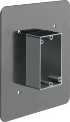 "Non-Metallic Flange Box for 1/2"" or 1-1/4"" Flat or Stucco Surfaces (FR101F)"