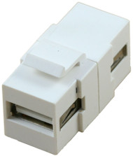 USB Type A Female to USB Type A Female Coupler (CA-2211WH)