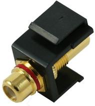 Black RCA Coupler Keystone Module (CA-2209BK)