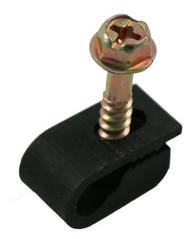 Single Coax Flexible Cable Clips (Black) (100PCS) (FC-1BK)